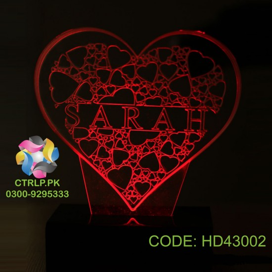 Customize your Name on Heart Shape LED Lamp HD43002