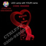 HD43006 Heart Shape Ribbon LED with your Customize Name