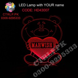 HD43007 Heart in Bear Hand LED with your Customize Name