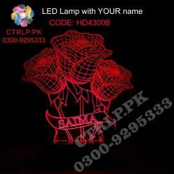 HD43008 Three Roses LED with your Customize Name