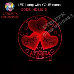 HD43010 I Love You Heart LED with your Customize Name
