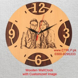 Wooden WallClock with Personalized Image HD43004