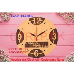 Wooden WallClock with Personalized Name HD43005