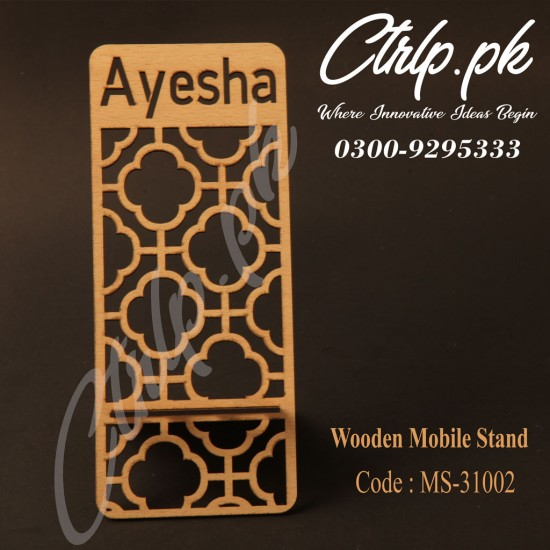 A Personalized 3D Wooden Mobile Stand MS-31002
