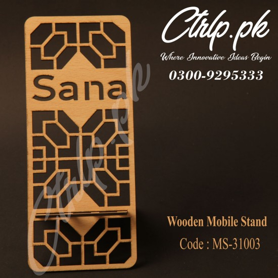A Personalized 3D Wooden Mobile Stand MS-31003