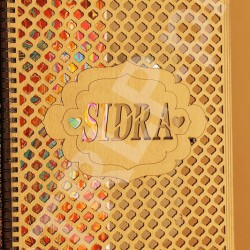 A4 Size Customize Name 3D Wooden Notebook NT21002