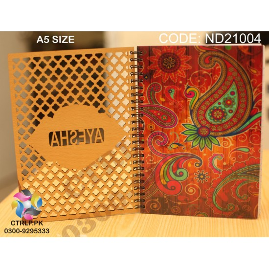 A5 Size Customize Name 3D Wooden Notebook NT21004