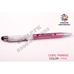 White Crystal Pen Customize Your Name Printed on Pen PN89002