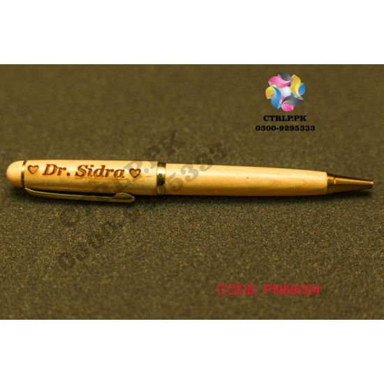 A Wooden Pen Customize Your Name Printed on Pen PN89004